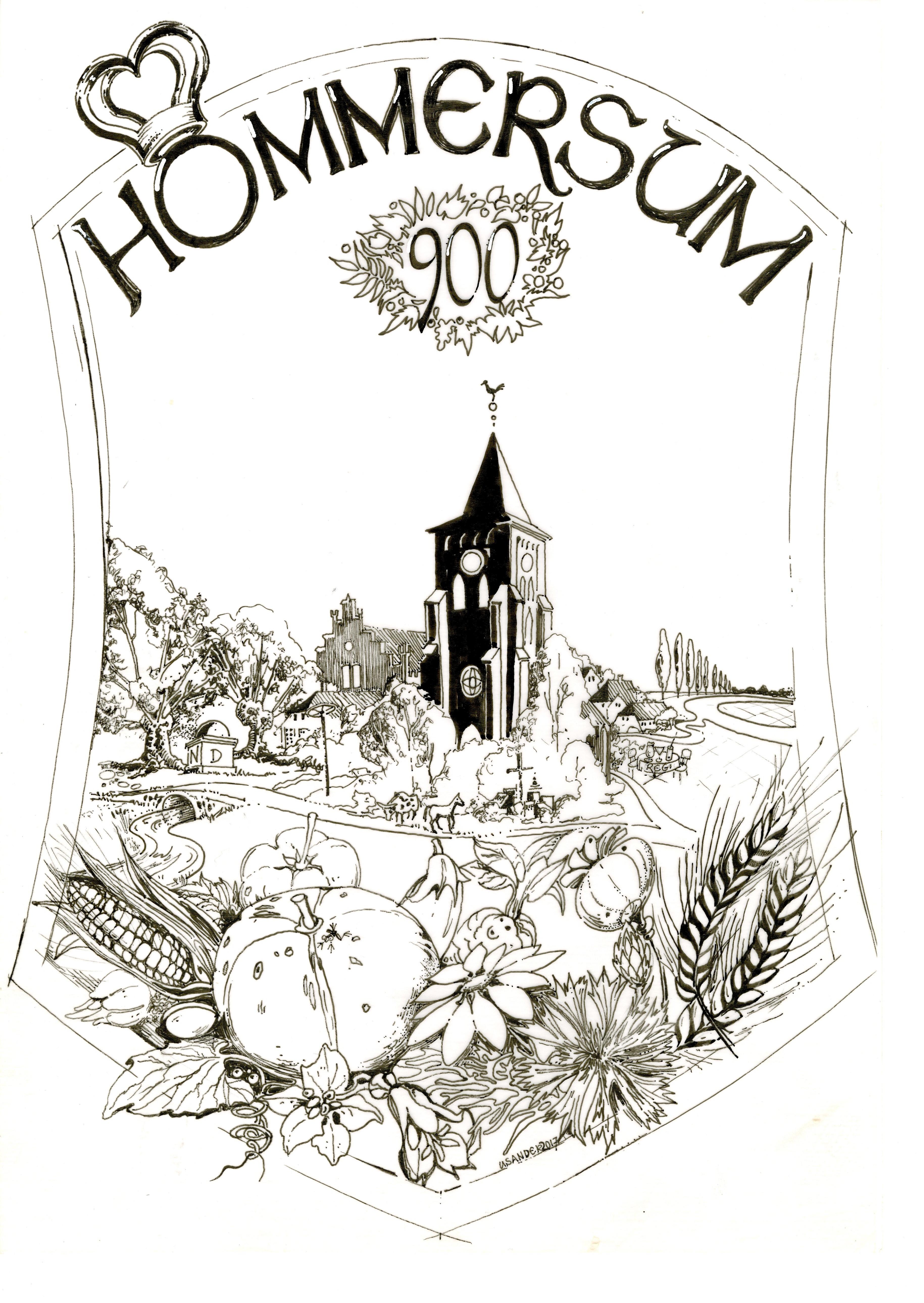 900 Jahr Hommersum Logo