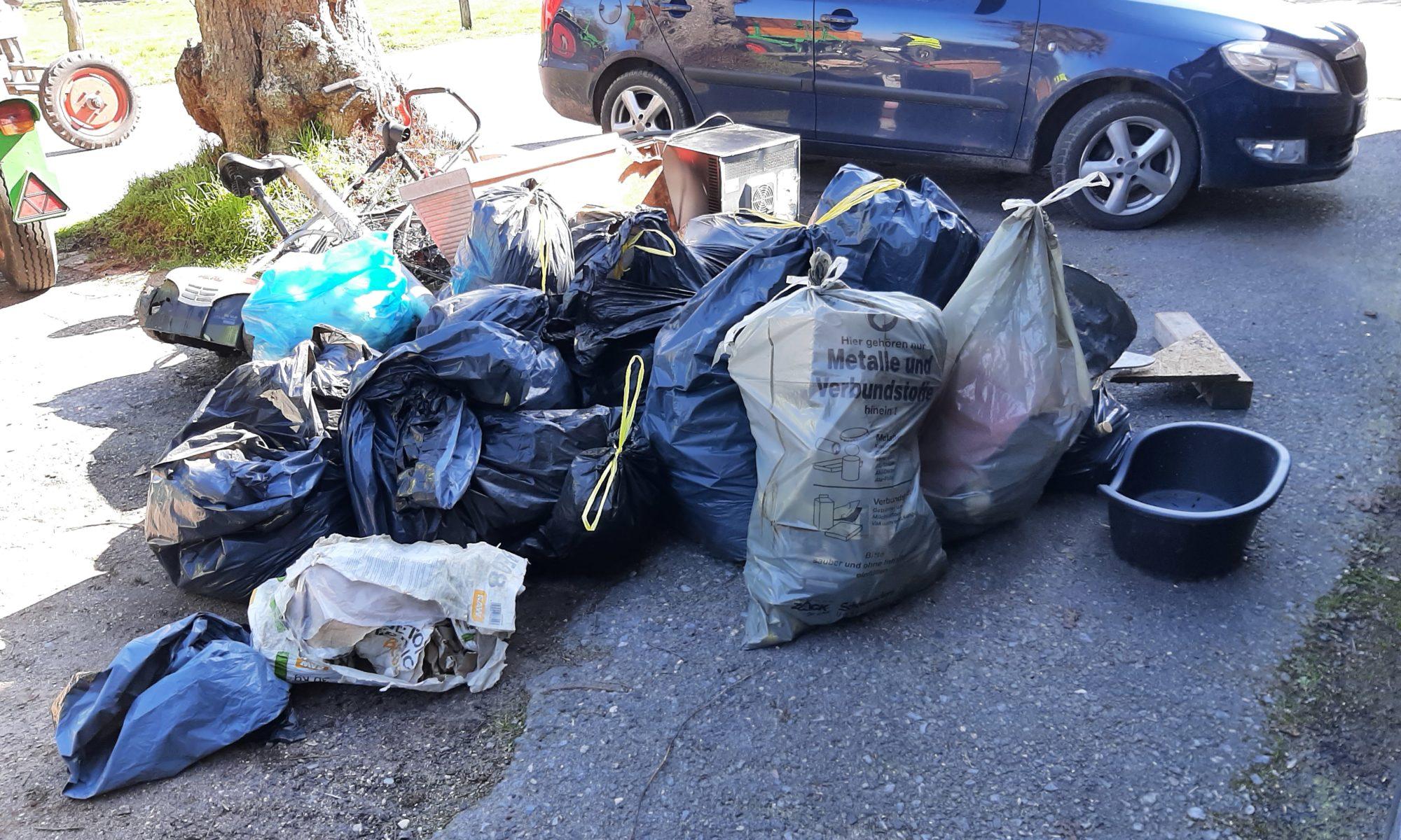 Erschreckend viel Müll in Hommersum
